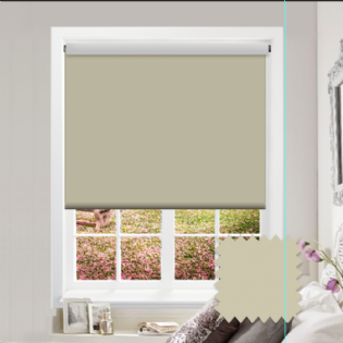 Cream Roller Blind - Bahamas Concrete Cream